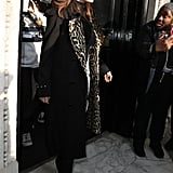 Selena Gomez Wearing a Leopard Burberry Trench in London