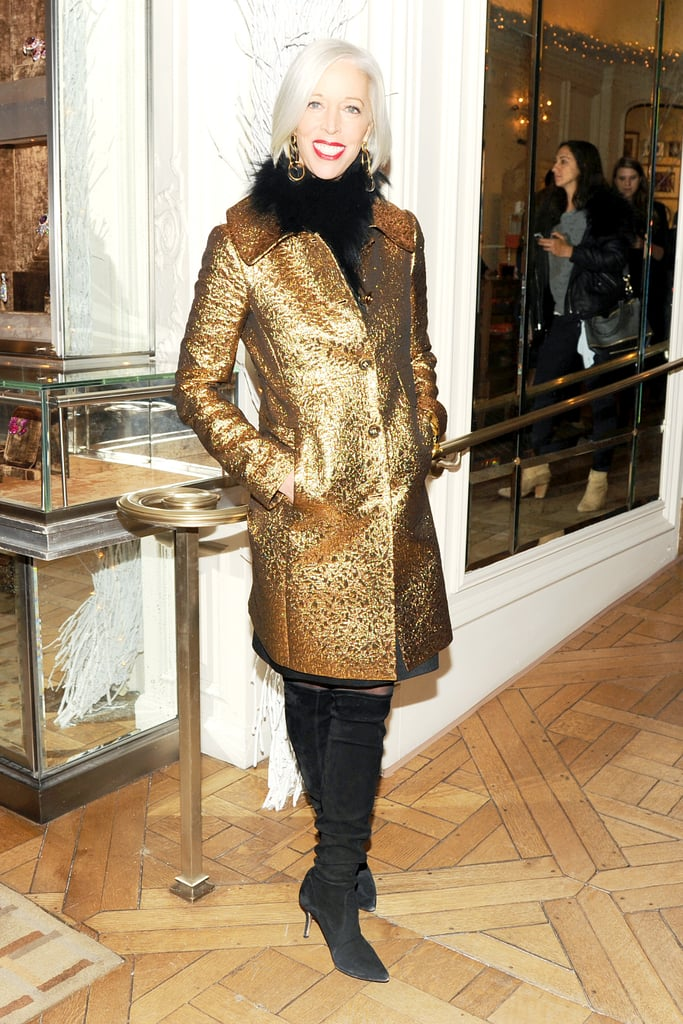 Linda Fargo at Bergdorf Goodman's Fifth Avenue holiday windows unveiling.