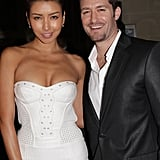 Matthew Morrison laughed with Renee Puente at the Versace show for Paris Fashion Week.