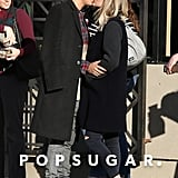 Ashlee Simpson and Evan Ross kissed in LA on Monday.