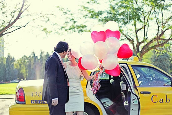 The Details The moment is completely centered on the two of you, you're not having to appease mothers-in-law or bossy bridesmaids, so make every aspect uberpersonal. This couple incorporated the bride's childhood wish to fly away with balloons, exchanged self-written vows, and went to their favorite restaurant after the ceremony. The bride even made the ceramic cake topper! Photo by Fresh in Love via Ruffled
