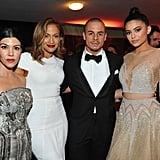 Abgebildet: Jennifer Lopez, Kourtney Kardashian, Kylie Jenner, and Casper Smart