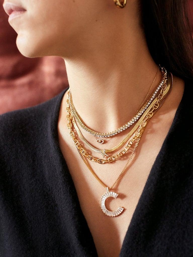 Baublebar Baguette Initial Necklace