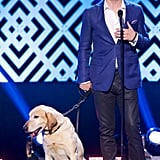 Ian Somerhalder accepted the dogs's best friend award at the World Dog Awards in LA on Saturday.