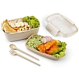 Compact Bento Lunch Box with Utensils