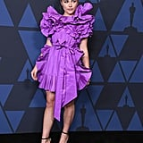 Florence Pugh's Purple Valentino Dress at Governors Awards