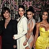 Kim Kardashian in Yellow Versace Dress May 2018
