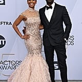 Sterling K. Brown and Ryan Michelle Bathe at the 2019 SAG Awards
