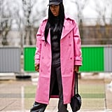 For a Pop of Color, Choose a Pink Coat