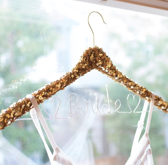 DIY Sequined Hangers