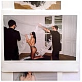 "Kim paid tribute to Riccardo with a picture taken at her wedding. Her revealing throwback shows men helping the bride put on Riccardo's creation. ""Happy Birthday @riccardotisci17 I love you soooo much!!! Can't wait to celebrate with you tonight!!!!"" Kim wrote.  Source: Instagram user kimkardashian"