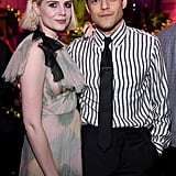 Lucy Boynton and Rami Malek at The Politician Premiere