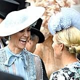 The Duchess of Cambridge and Zara Tindall