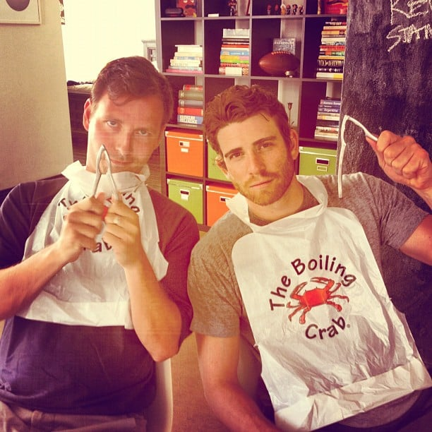 Bryan Greenberg tried his hand at crab cracking over the holiday weekend.  Source: Instagram user bryangreenberg