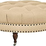 Stone & Beam Janelle Button Tufted Ottoman