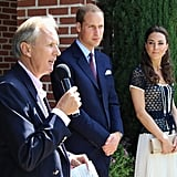 Prince William and Kate Middleton at the Tusk Trust reception in Beverly Hills.