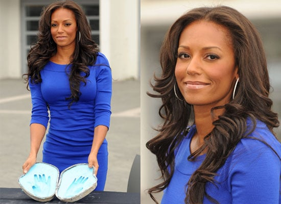 Photos Of Melanie Brown a.k.a. Mel B From Spice Girls Casting Her Handprints at Wembley Square of Fame