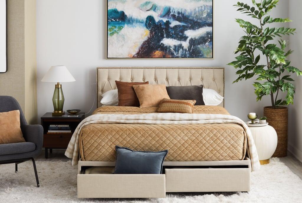 Upholstered Queen Storage Bed