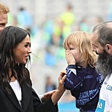 Kid Touching Meghan Markle's Hair in Ireland
