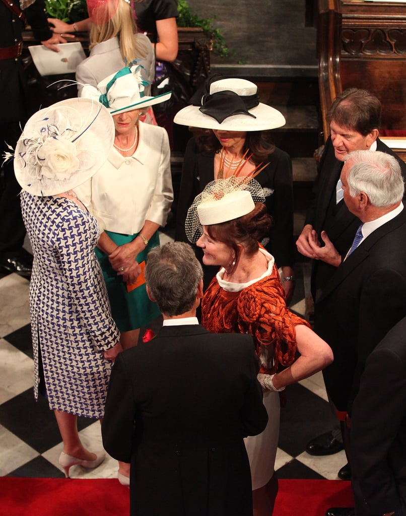 Guests — all topped off with decadent hats — awaited the start of the royal couple's wedding at Westminster Abbey in April 2011.