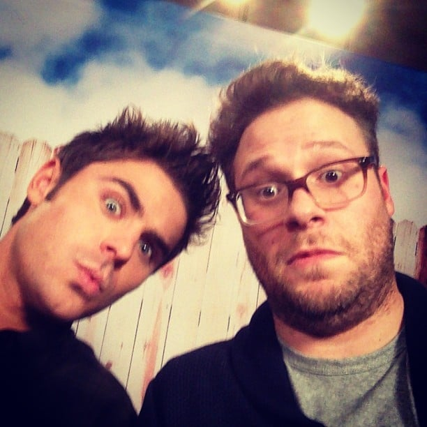 Seth Rogen and Zac Efron snapped this great selfie. Source: Instagram user sethrogen