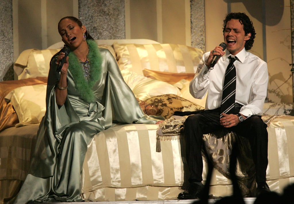 The 2005 show included an awkward duet from Jennifer Lopez and Marc Anthony.