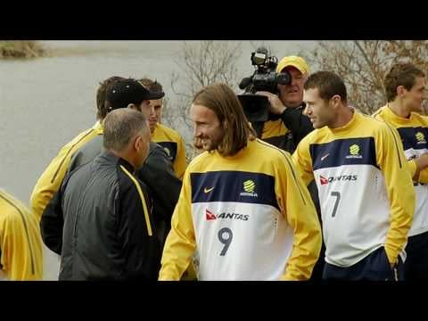 John Travolta sings You're the One That I Want to the Australian Socceroos team at the World Cup in South Africa