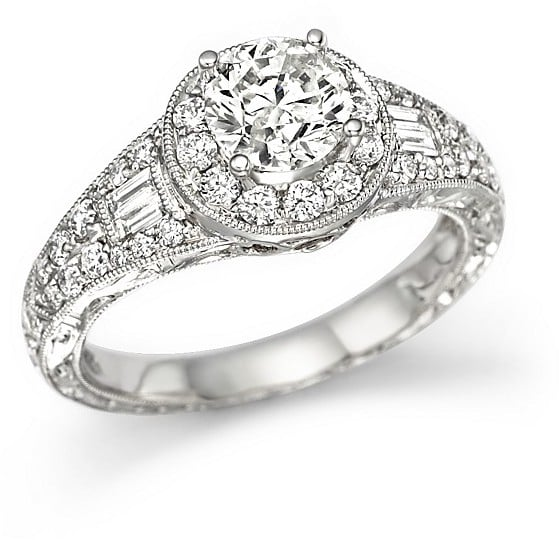 Bloomingdales Certified Diamond Ring in 14K White Gold 190 ct