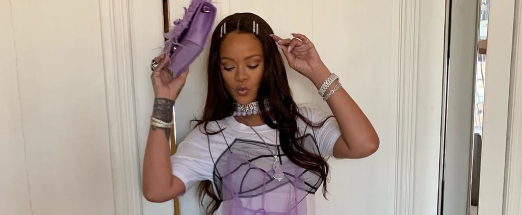 Rihanna Wears Crystal Bobby Pins on Instagram
