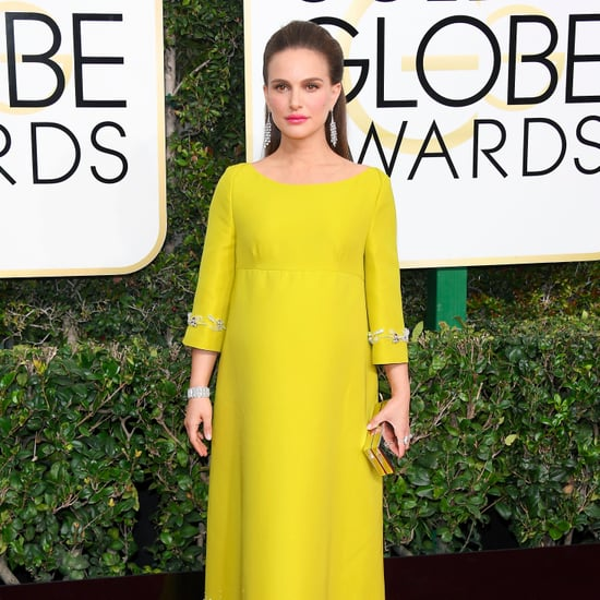 Natalie Portman Prada Dress Golden Globe Awards 2017