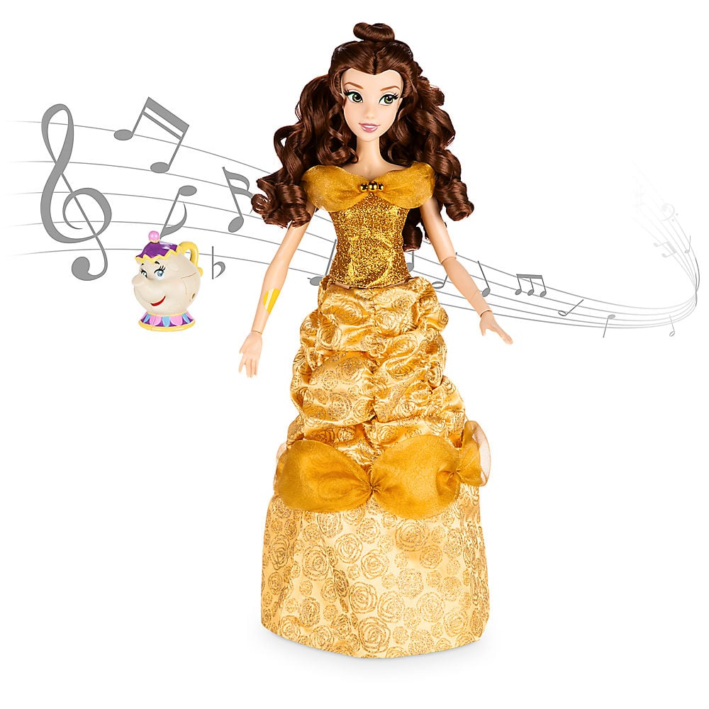 Belle Deluxe Interactive Doll With Singing Mrs. Potts Figure