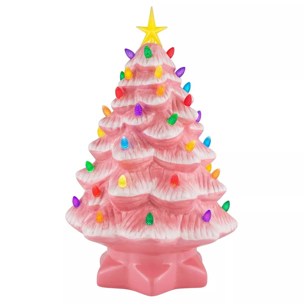 Mr. Christmas Pink Ceramic Tree Decorative Figurine