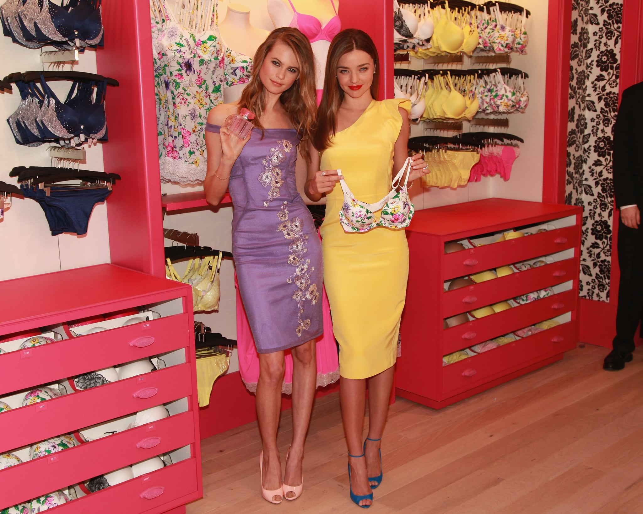 Miranda Kerr Has a Fabulous Morning With Victoria's Secret and Behati Prinsloo