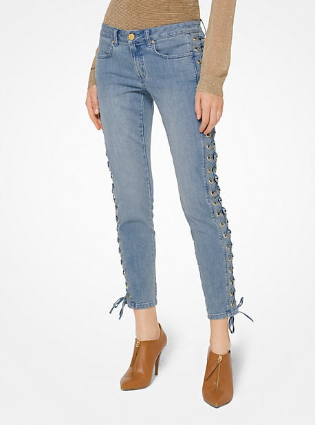 Michael Kors Lace-Up Skinny Jeans
