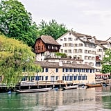 Hop on a boat to set sail down the Limmat.