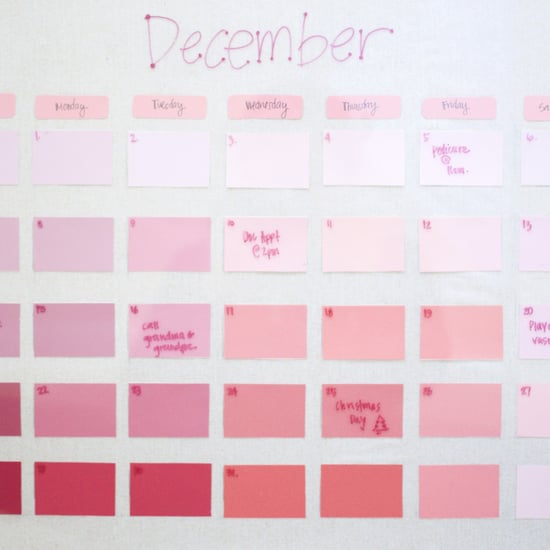 DIY Reusable Paint-Chip Calendar