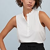 H&M Scalloped-Edge Blouse
