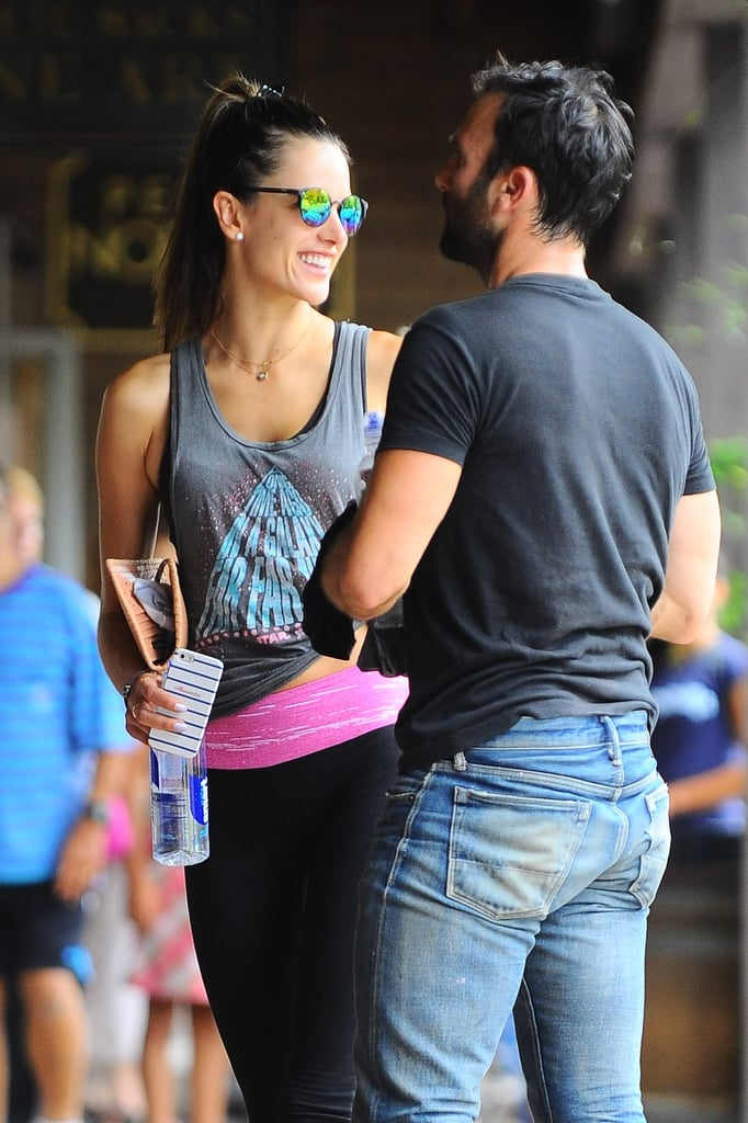 Alessandra Ambrosio had a big smile next to her husband Jamie Mazur after scoring some cardio at SoulCycle in LA on Sunday.