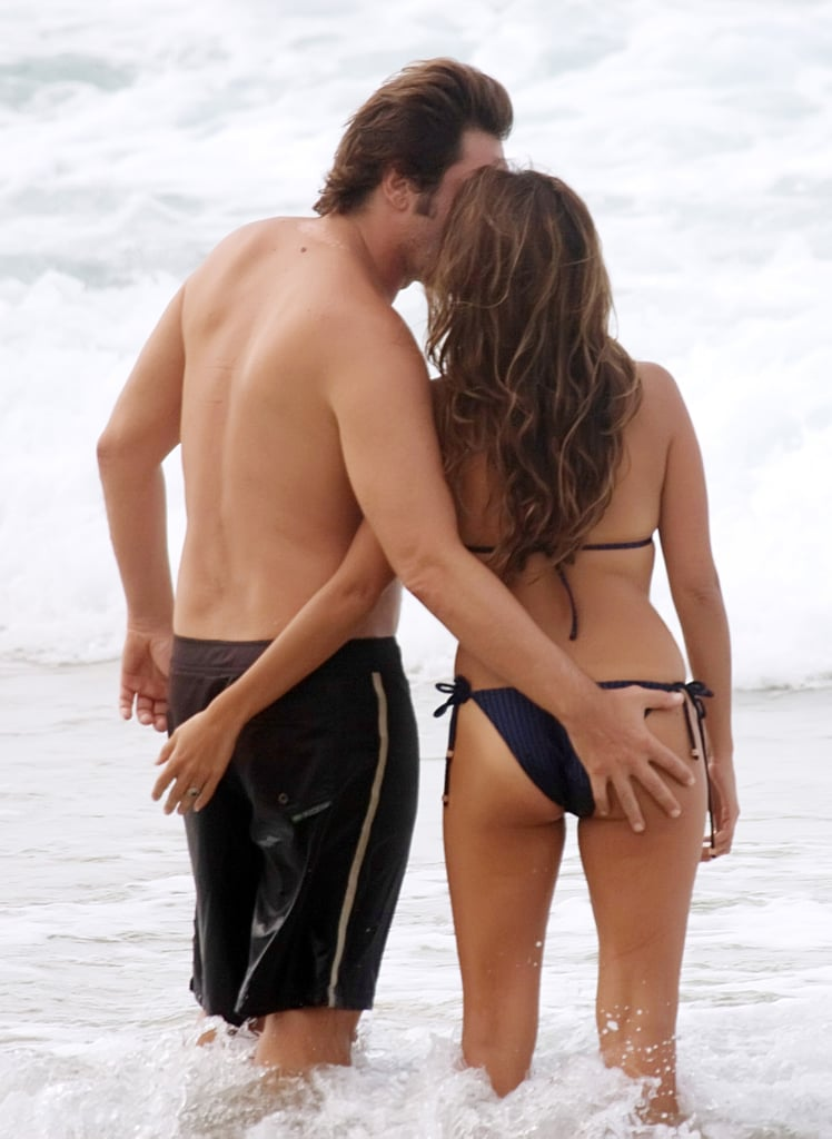 Penélope wore a tiny swimsuit while on vacation in Brazil with husband Javier Bardem in January 2010.
