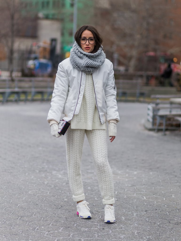 Don't Just Get Comfortable — Wear a Full Knit Set With Sneakers
