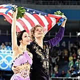 Olympic ice dancing partners Meryl Davis and Charlie White celebrated their gold medal win in Sochi, in turn warming our hearts.