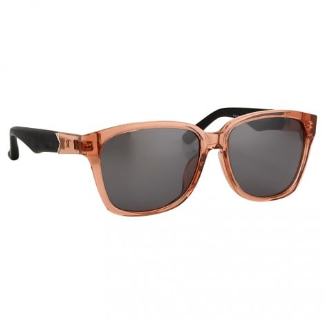We love the juxtaposition between the rose-hue frames and leather temples.  The Row Rose and Leather Frame Sunglasses ($442)