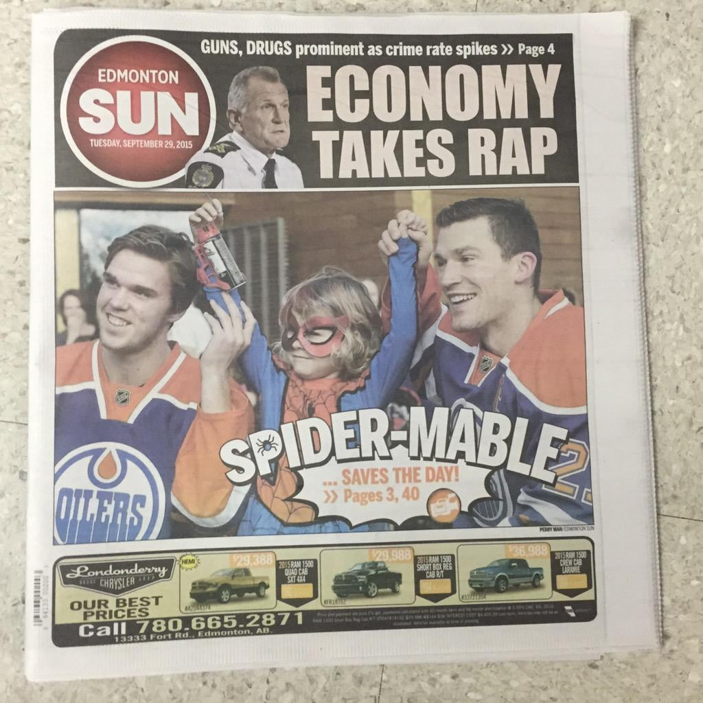 Spider-Mable Girl With Cancer Becomes Superhero in Edmonton