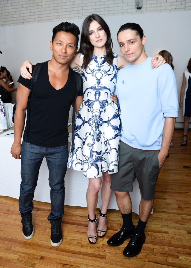 Prabal Gurung, Jacquelyn Jablonski, and Olivier Theyskens at an event for Autism Speaks in New York. Source: Joe Schildhorn /BFAnyc.com