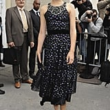 Clemence Poesy at Paris Fashion Week.