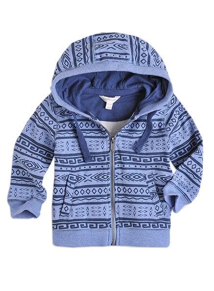 Pumpkin Patch Aztec Print Fleece Sweatshirt