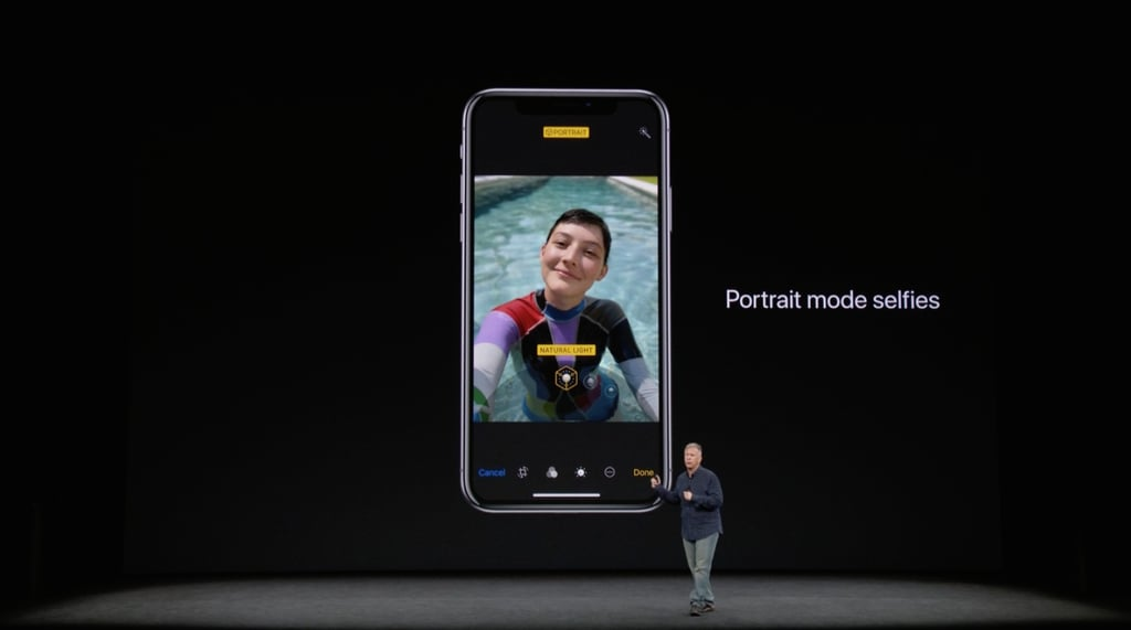 Portrait mode comes to the front-facing camera.