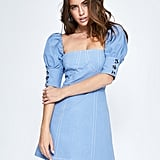 The Wolf Gang El Mar Bust Cup Blue Dress ($249)
