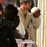 Angelina and Liev Filming Salt
