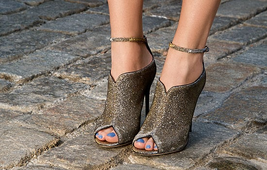 Liese Metallic Peep-Toe Ankle Boots ($350)